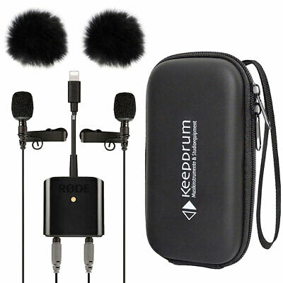Rode SC6-L Interview-Kit Incl Microphone + Keepdrum 2x Windprotector+Soft-Case • 219.64£