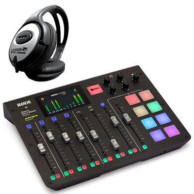 Rode Rodecaster Pro All-in-One Podcast Station + Keepdrum Headphones • 591.12£