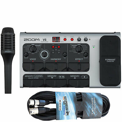 Zoom V6 Effects Unit For Vocals Vocal-Processor + Keepdrum XLR Cable 6m • 354.63£