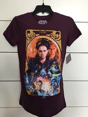 Her Universe Revenge Of The Sith Star Wars Shirt Padme & Anakin Skywalker Size M • 68.85£