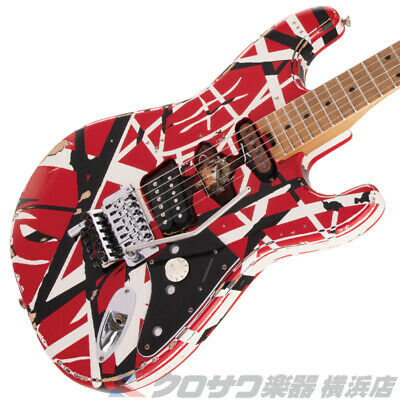 EVH Striped Series Frankie -Red With Black Stripes- Relic • 2,144.62£