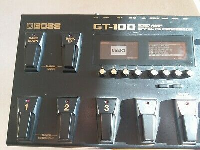 Boss Gt-100 V2 Version 2 Guitar Effects Pedal Processor & Power Supply • 220£