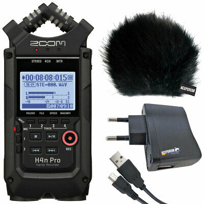 Zoom H4n Pro Black Recorder + Keepdrum Accessory Set • 256.99£