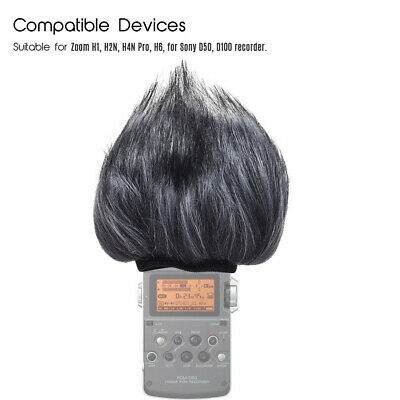Shield Artificial Fur Muff Microphone Windshield For ZOOM H4N H2N Microphone • 9.38£