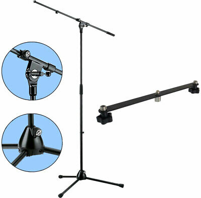 K&M 210/2 Microphone Tripod Microphone Stand With Boom + Keepdrum Stereo-Schiene • 54.73£
