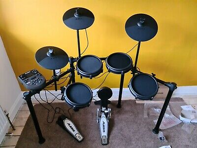 8 Piece Electronic Drum Kit With Nitro Mesh Heads And Drum Sticks Alesis • 192.37£