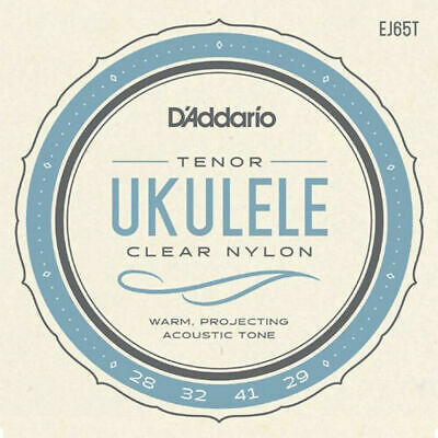 D'Addario Ukulele Strings, EJ65T, Pro-Arte Custom Extruded Clear Nylon, Tenor • 6.17£