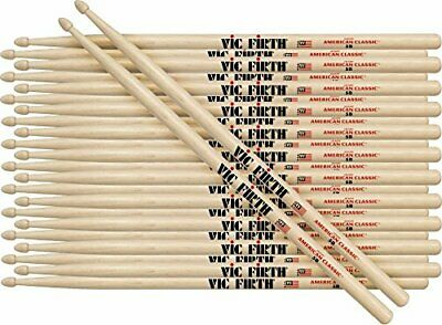 Vic Firth 12-Pair American Classic Hickory Drumsticks Wood 5B • 104.31£