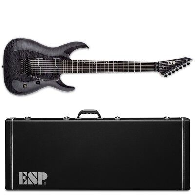 ESP LTD BUZ-7 QM See Thru Black STBLK Buz McGrath 7-String Guitar + Hard Case • 1,012.30£