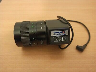 TV Zoom Lens 8 - 48mm 6×manual Zoom, Auto Iris, H6Z0812AIDC 1:1.2 Made In Japan • 45£