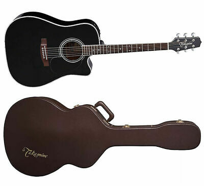 Takamine EF341SC Gloss Black Dreadnought Acoustic-Electric Guitar + Hard Case • 1,076.84£