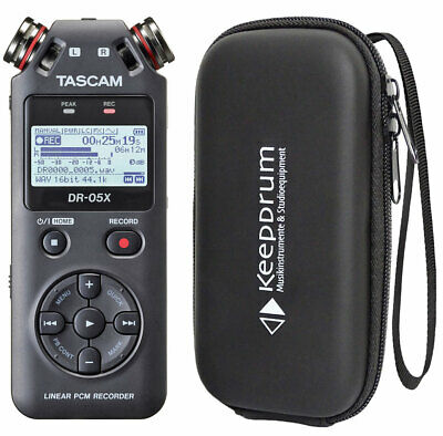 Tascam DR-05X Recorder Dictaphone+Keepdrum Bag Soft-Case • 112.47£