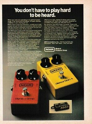 Vintage MXR Effects Pedal Print Ad - Dyna Comp And Distortion + • 7.09£