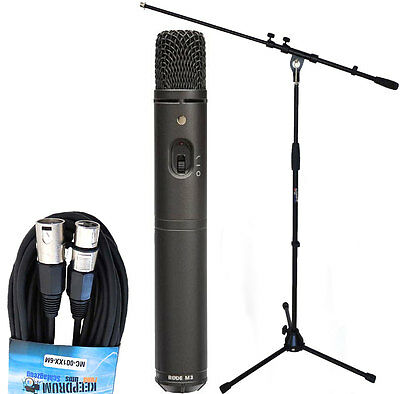 Rode M3 Condenser Microphone + Keepdrum Microphone - Tripod/Cable • 109.99£