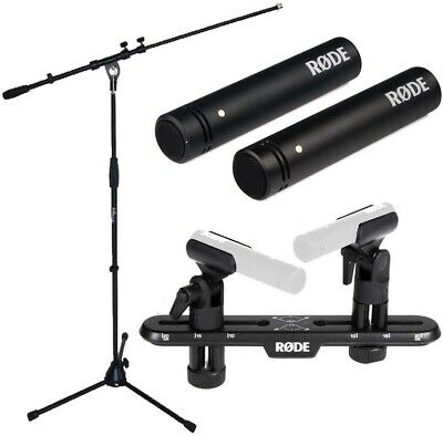 Rode M5 Mp Microphone Set +SB20 Stereo Bar+Keepdrum Microphone Stand • 215.36£