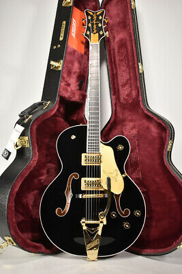 2020 Gretsch G6136T-BLK Players Edition Black Falcon Hollow Body Electric Guitar • 2,617.89£