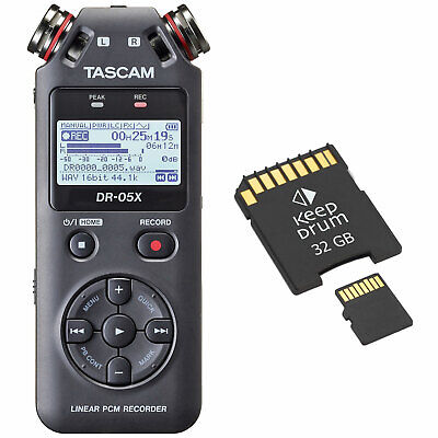 Tascam DR-05X Recorder Dictaphone + Memory Card 32 GB • 94.95£