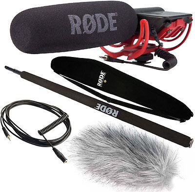 Rode Videomic Rycote + Dead Cat +Micro-Boompole +Bag +VC1 Cable • 180.21£