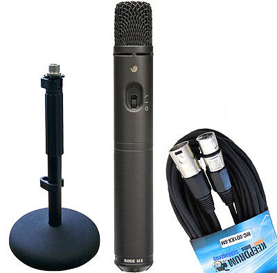 Rode M3 Condenser Microphone+Keepdrum Cable+DS1 Traveller • 116.50£