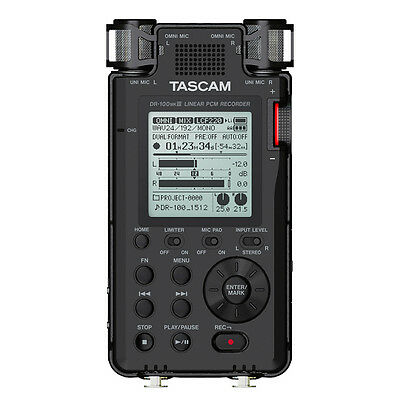 Tascam DR-100 MKIII MK3 2-Ch Portable Linear PCM Handheld Stereo Audio Recorder • 233.61£