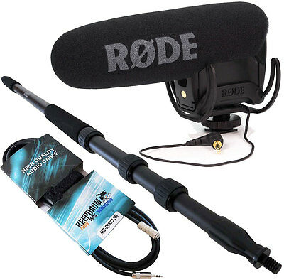 Rode Videomic Pro Rycote + Keepdrum MPB01 Boompole 3M + Extension Cable 3M • 200.18£