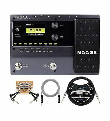 MOOER GE150 Guitar Amp Modelling And Multi-Effects Pedal Bundle With Blucoil ... • 152.19£