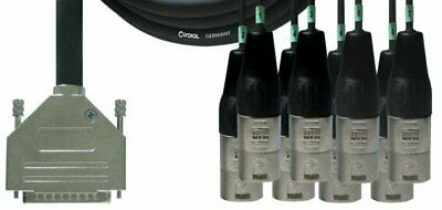 Cordial 16' TASCAM D-Sub 25-Pin Male to 8 3-Pin XLRM 8-Channel Cable - CFD5DMT
