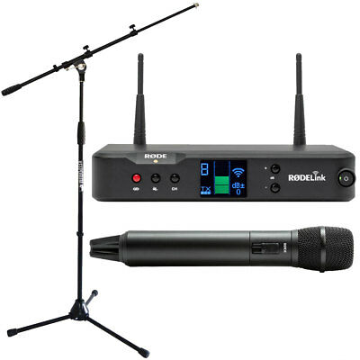 Rode Rodelink Performer Kit Funk-Mikrofon System+Microphone Stand With Boom • 352.39£
