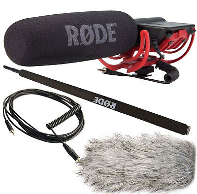 Rode Videomic Rycote + Dead Cat Windprotector+Micro-Boompole+VC1 Cable • 124.88£