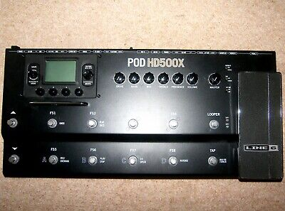 Line 6 POD HD 500 X , Multi Effects Processor For Guitar , Bass And Vocal. • 200£