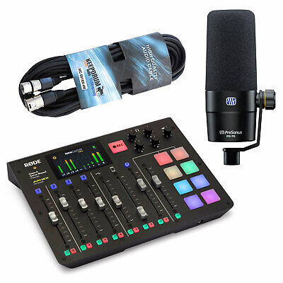 Rode Rodecaster Pro Podcast Station + Presonus PD-70 Microphone+Keepdrum Cable • 561.50£