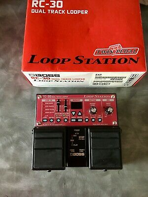 Boss RC-30 Loop Station Dual Track Looper Pedal RC30 Guitar Effects Boxed • 140£