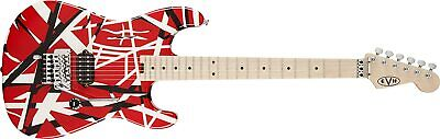 New EVH Striped Series Red With Black And White Stripes Electric Guitar • 1,178.19£