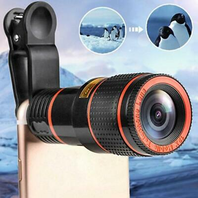 12X Optical Zoom Lens Telescope Telephotos Clip On Cell For Mobile Cameras F6F4 • 3.69£