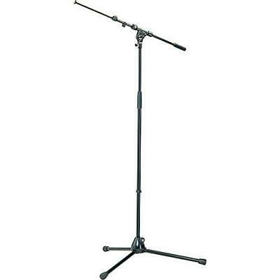 K&M 210/9 Black Tripod Microphone Stand With Telescoping Boom Black *GREAT VALUE • 55.75£
