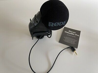 RODE STEREO VIDEOMIC PRO - With Rycote Lyre Shockmount - Microphone • 140£