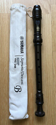 Yamaha Soprano/descant Recorder YRS-24B with Baroque Fingering & comes with Bag
