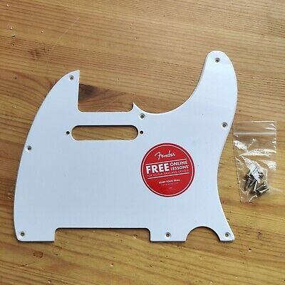 New 2021 Squier By Fender White 1 Ply Pickguard Scratchplate With Screws