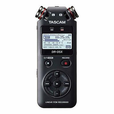 DR-05X Tascam Portable audio recorder and USB interface recording and playback