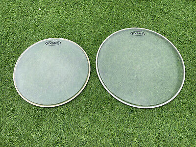 """Evans G1 Clear Drum Head Set 13"""" And 16"""" Good Condition"""