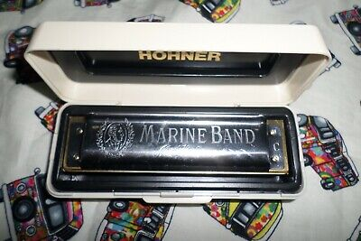 1 Hohner Marine Band Harmonica In C In Superb Condition