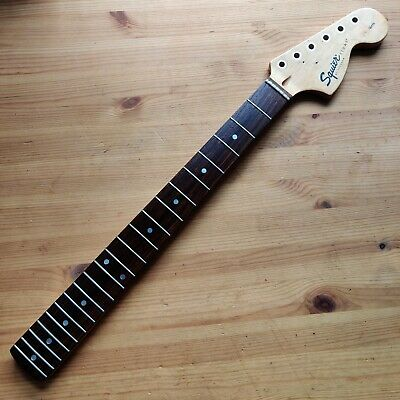 Used 2000 Squier By Fender Stratocaster Strat Neck Rosewood Big Headstock