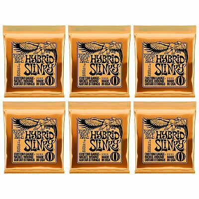 Ernie Ball Hybrid Slinky 2222 9-46 Nickel Wound Strings 6 Sets Pack Made In USA • 19.98£