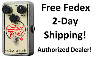 New Electro-Harmonix EHX Soul Food Distortion Fuzz Overdrive Effects Pedal • 61.85£