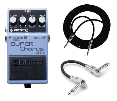 New Boss CH-1 Super Chorus Pedal FREE 10ft Cable AND Fender Patch • 93.09£