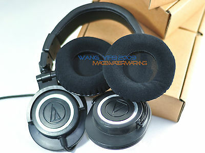 Velour Cushion For Audio Technica ATH M20X M30X M40X M50X M-Series DJ Headphones • 9.39£