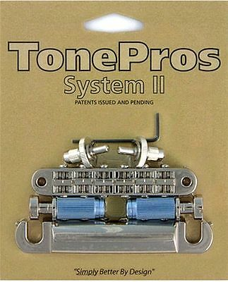 Tone Pros Nashville Style Bridge/Tailpiece Set LPM04/N NIckel Finish • 70.33£