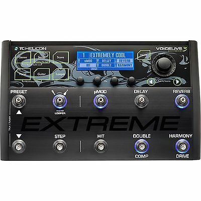TC-Helicon Voicelive 3 EXTREME Vocal FX Guitar Effects Looper Pedal • 563.14£