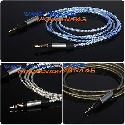 Upgrade Silver Plated HIFI OFC Cable For KRK KNS8400, KNS6400 Studio Headphone • 10.04£