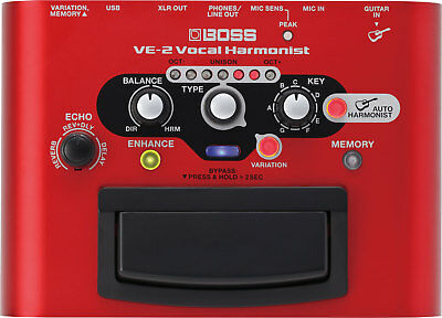 BOSS VE-2 Vocal Harmonist Battery-powered Portable Effects FX Processor Pedal • 180.47£